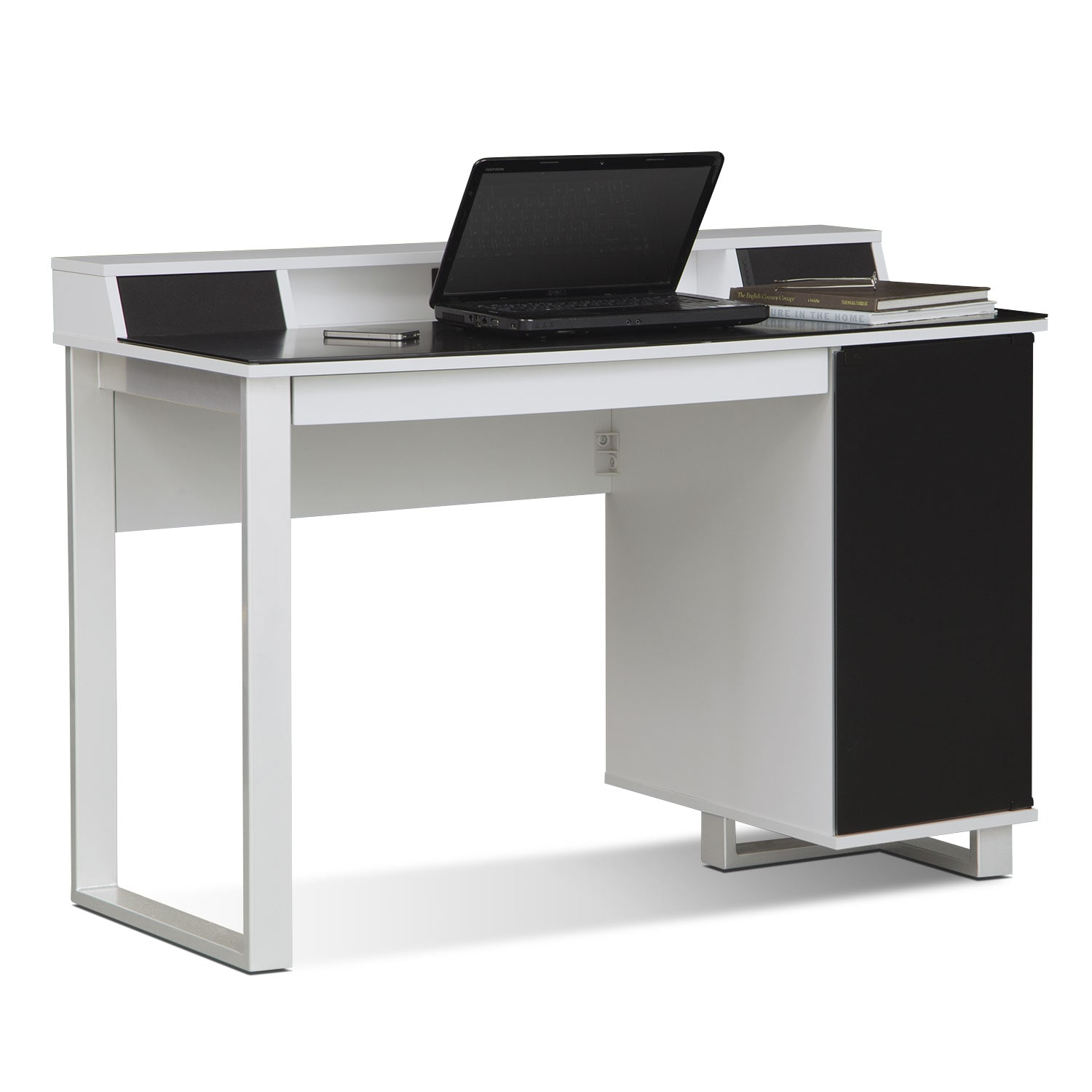 Pacer Home Office Desk with Sound - White