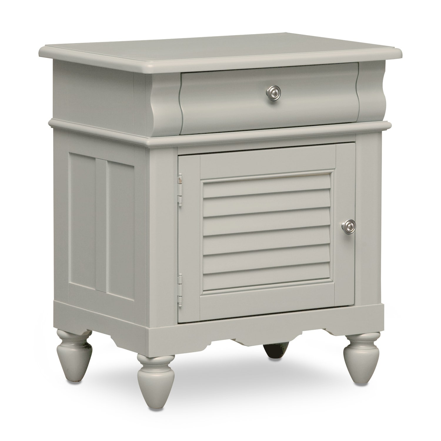 [Seaside Gray Nightstand]