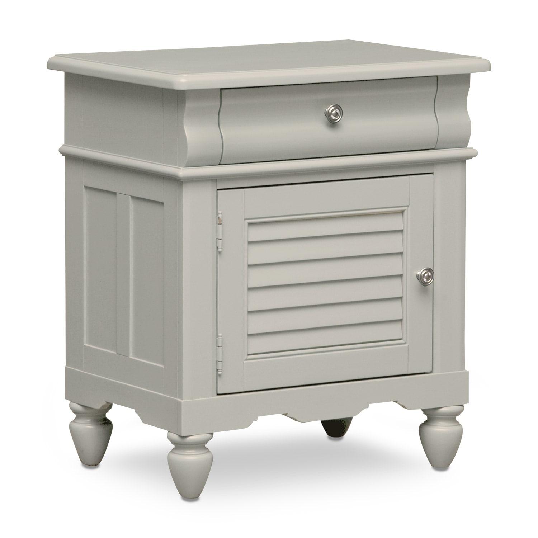 Kids Furniture - Seaside Nightstand - Gray