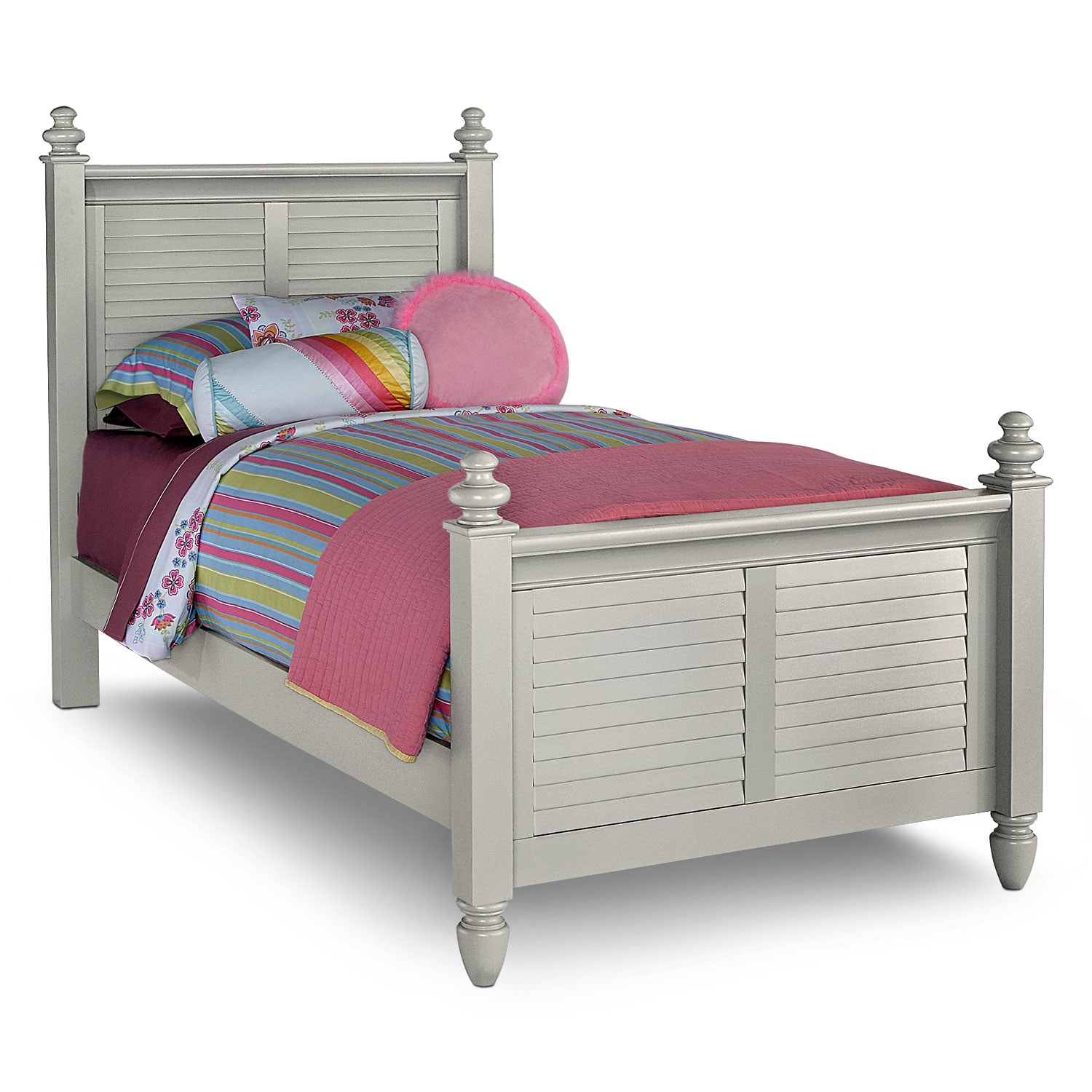 Seaside Full Bed Gray Value City Furniture And Mattresses
