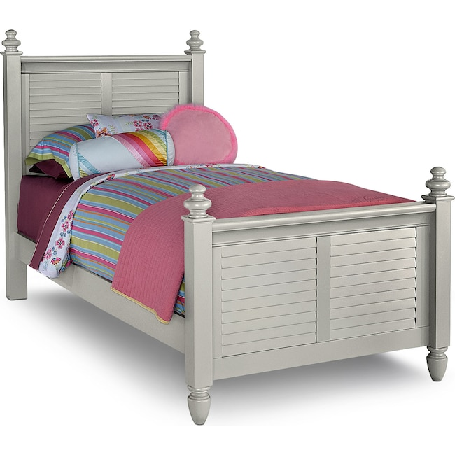 Kids Furniture - Seaside Full Bed - Gray