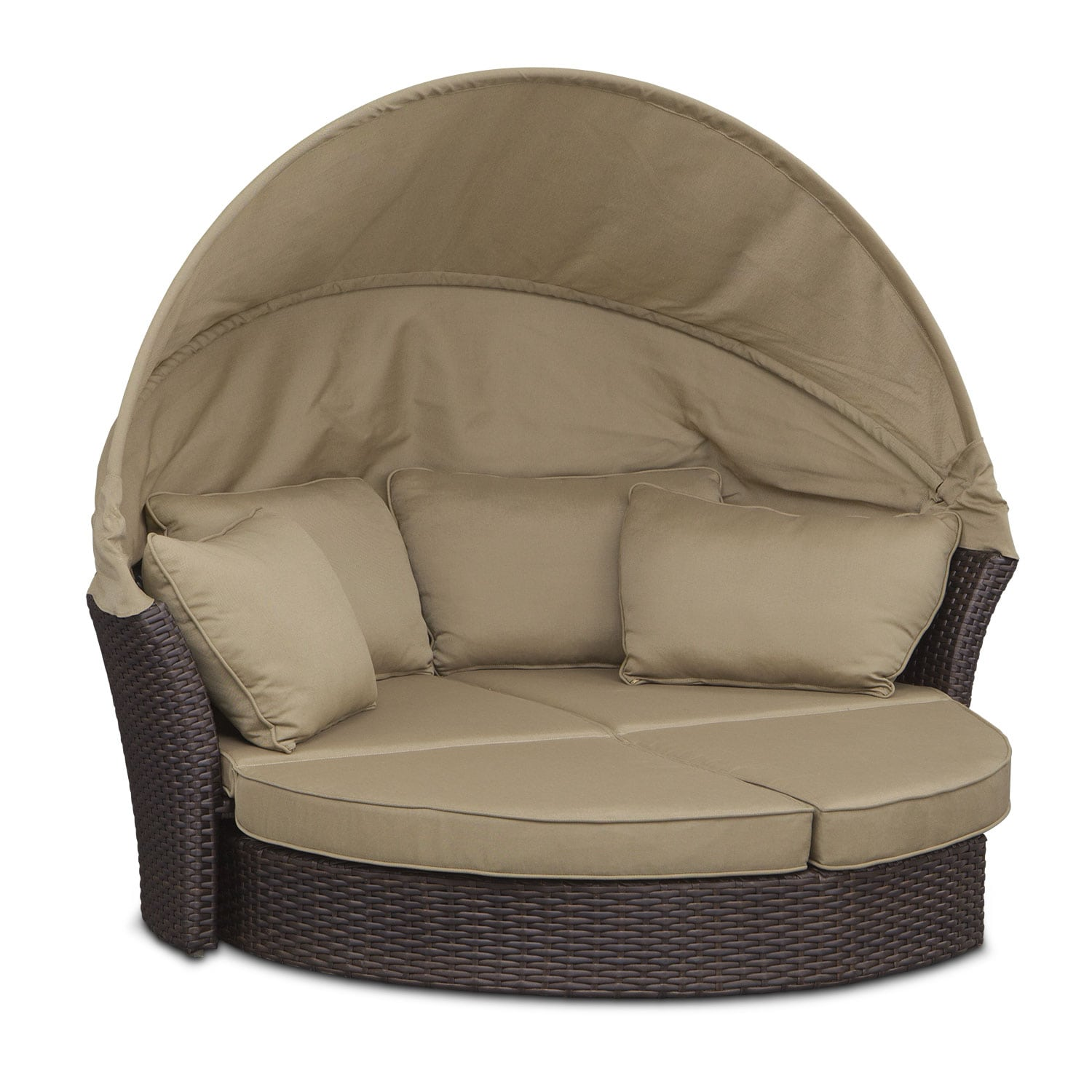 Maui Outdoor Sunbed - Brown