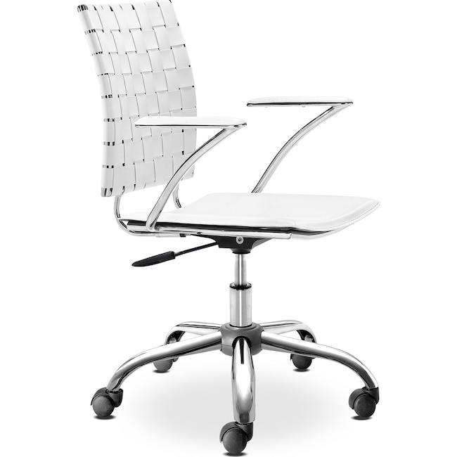Home Office Furniture - Zeno Office Arm Chair - White