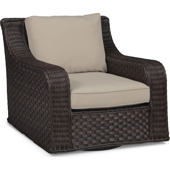 Outdoor Furniture - Doral Outdoor Swivel Rocker - Tan