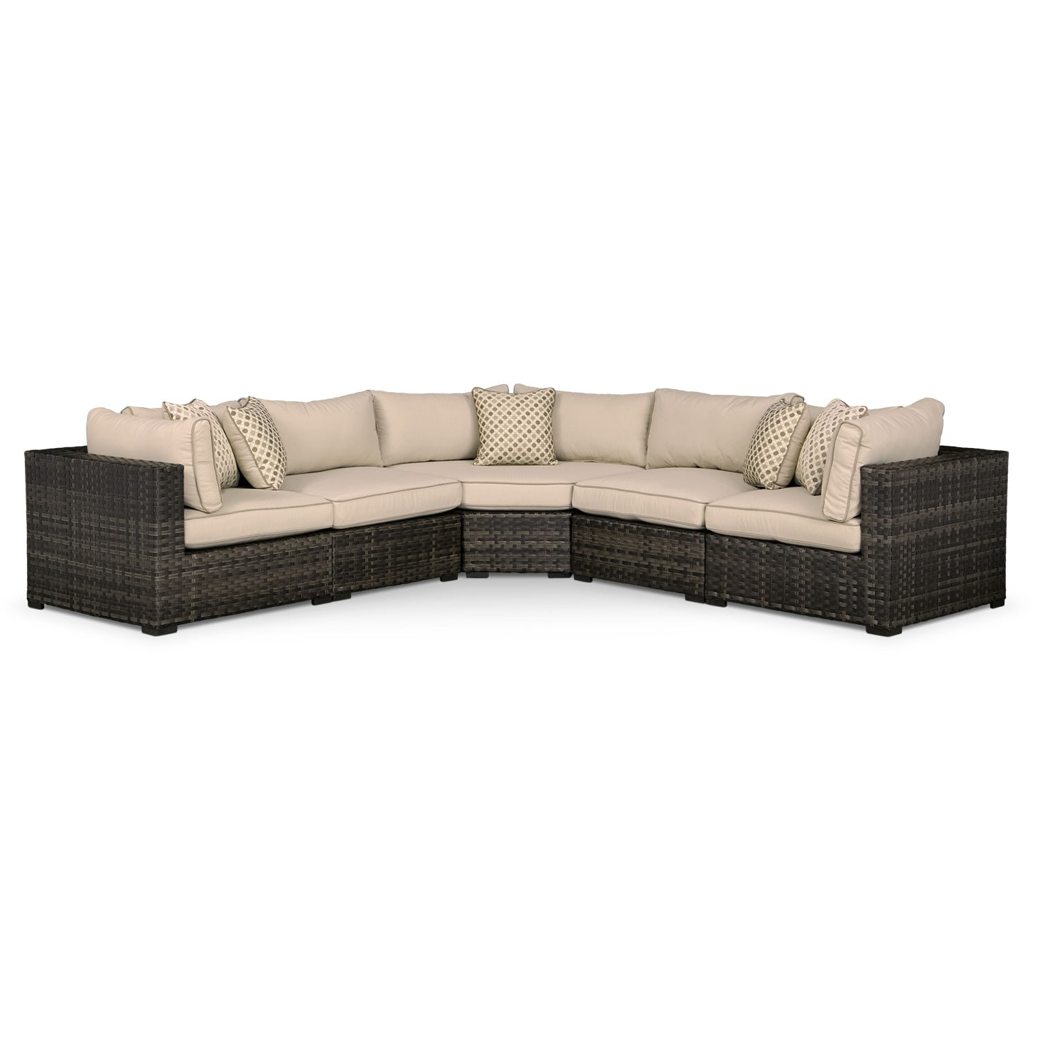 Outdoor Furniture - Regatta 5 Pc. Outdoor Sectional w/ Wedge
