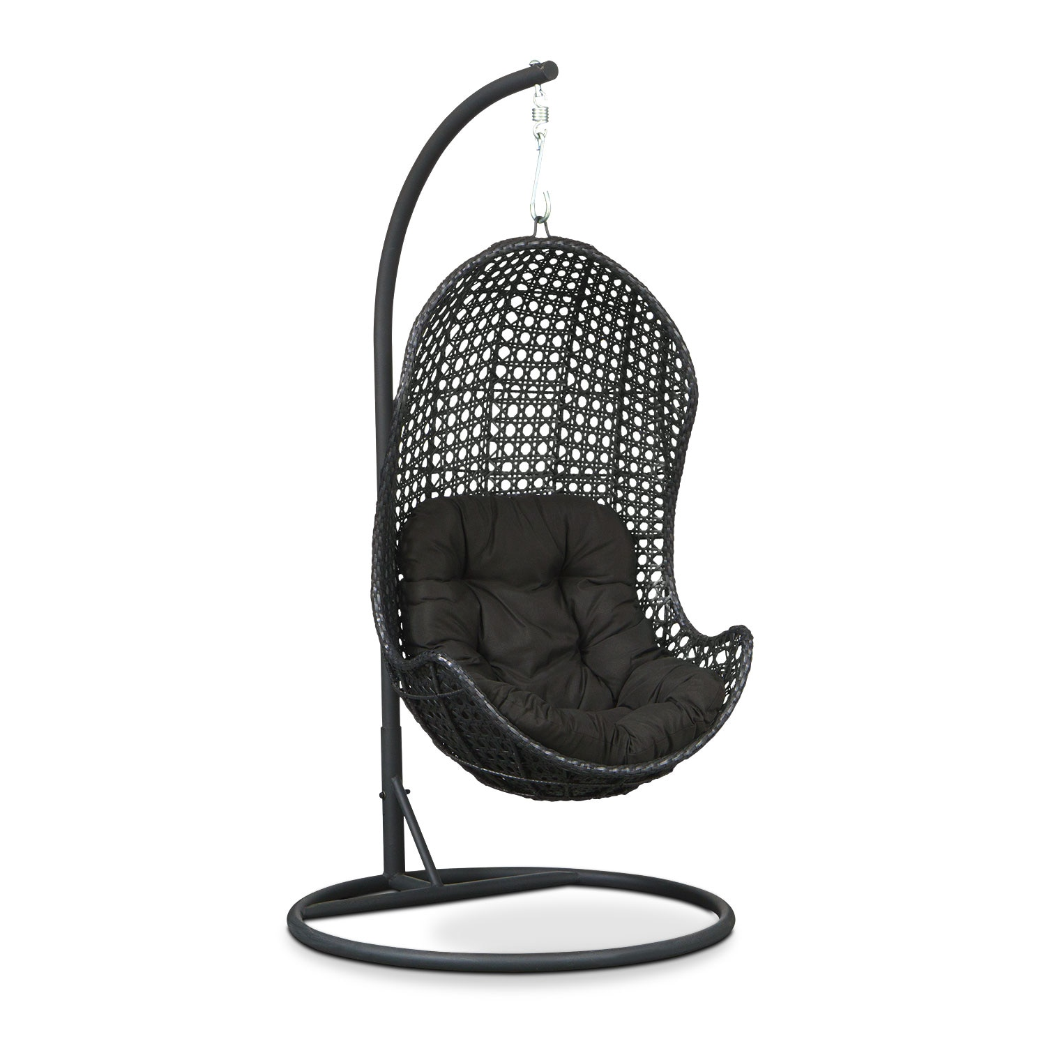 Outdoor Furniture - Kona Outdoor Egg Chair - Black