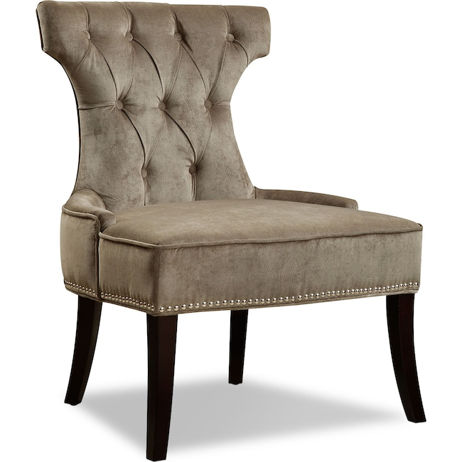 Living Room Furniture - Klein Accent Chair - Platinum