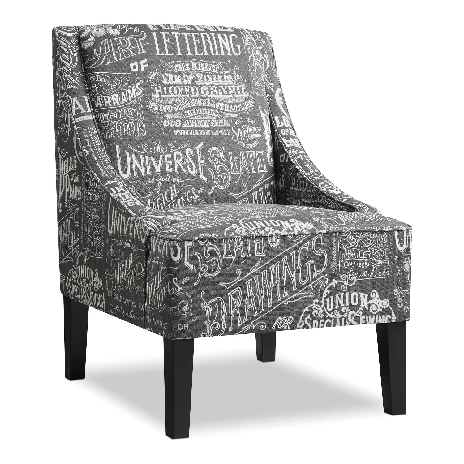 Carter Accent Chair Gray