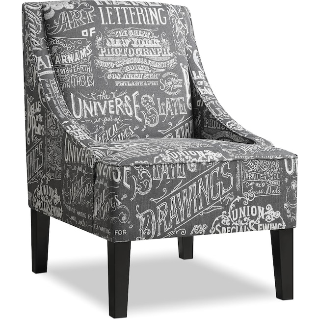 Dining Room Furniture - Carter Accent Chair - Gray