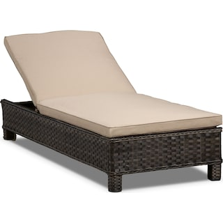 Regatta Outdoor Chaise Lounge - Brown