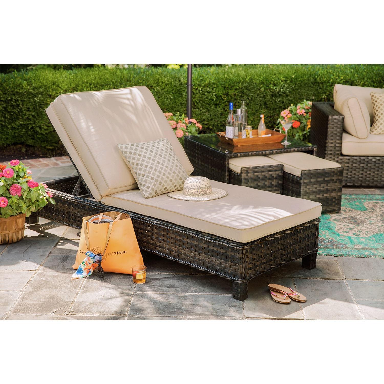 Regatta Outdoor Chaise Lounge - Brown