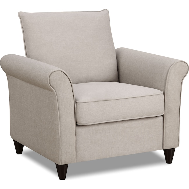 Living Room Furniture - Denton Accent Chair - Beige