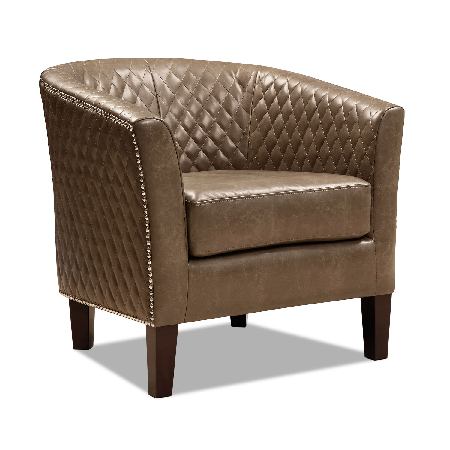 Accent Dining Room Chairs: Luxor Accent Chair - Brown