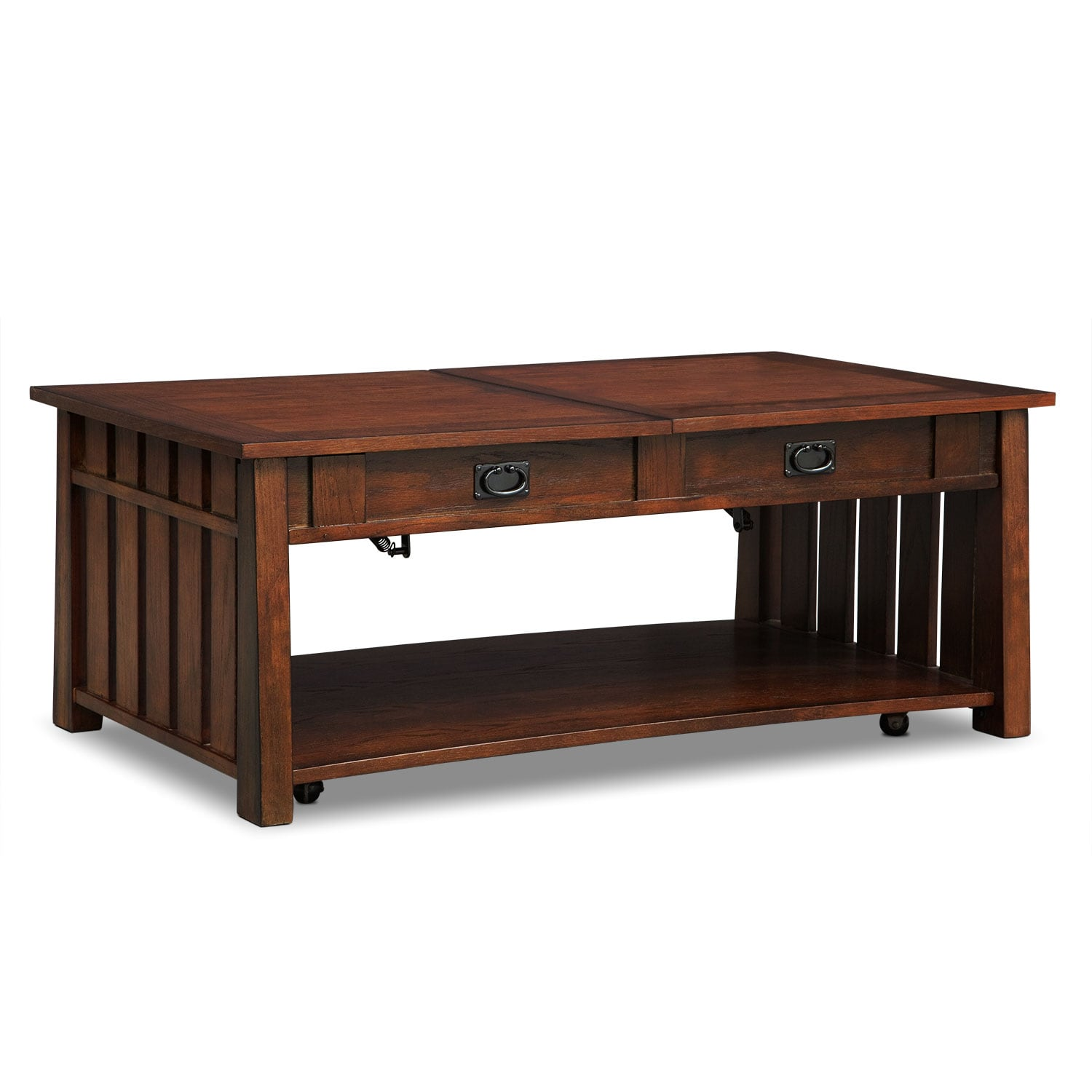 the mustang collection - brown | value city furniture