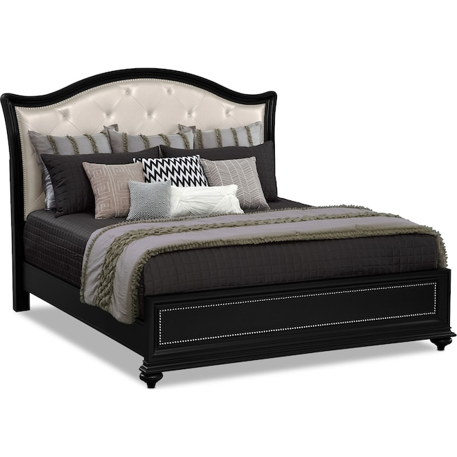 Bedroom Furniture - Marilyn King Bed - Ebony