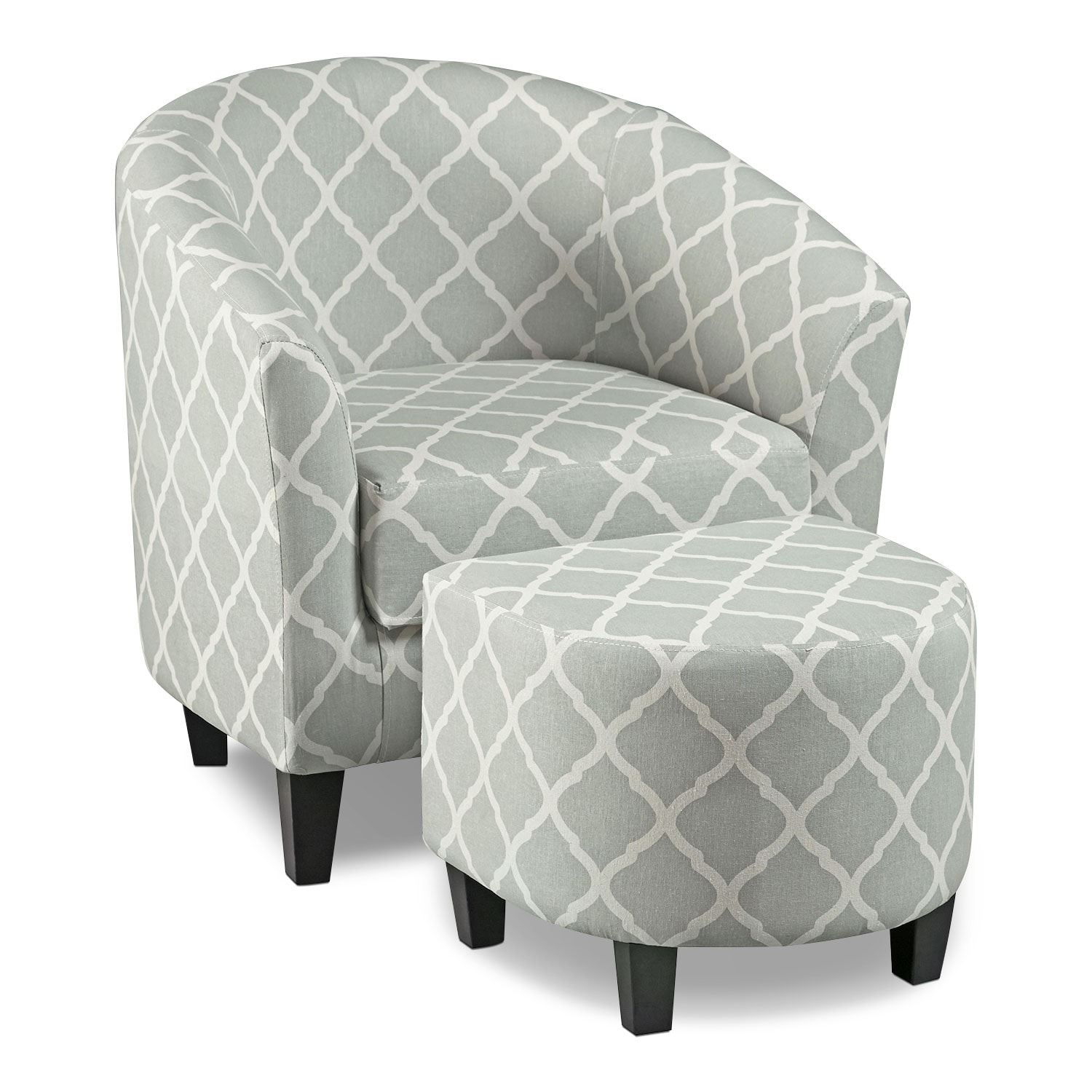 Accent Furniture For Living Room: Sperrie Accent Chair And Ottoman - Gray