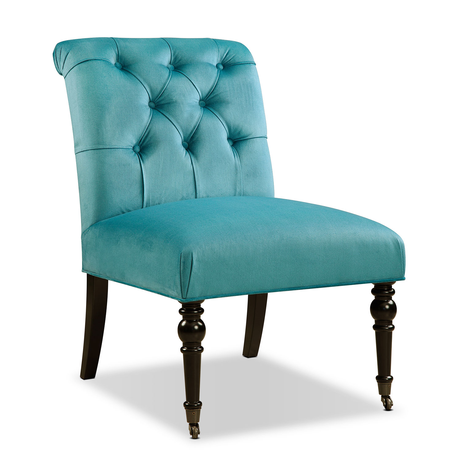 Living Room Furniture - Poppy Accent Chair - Blue