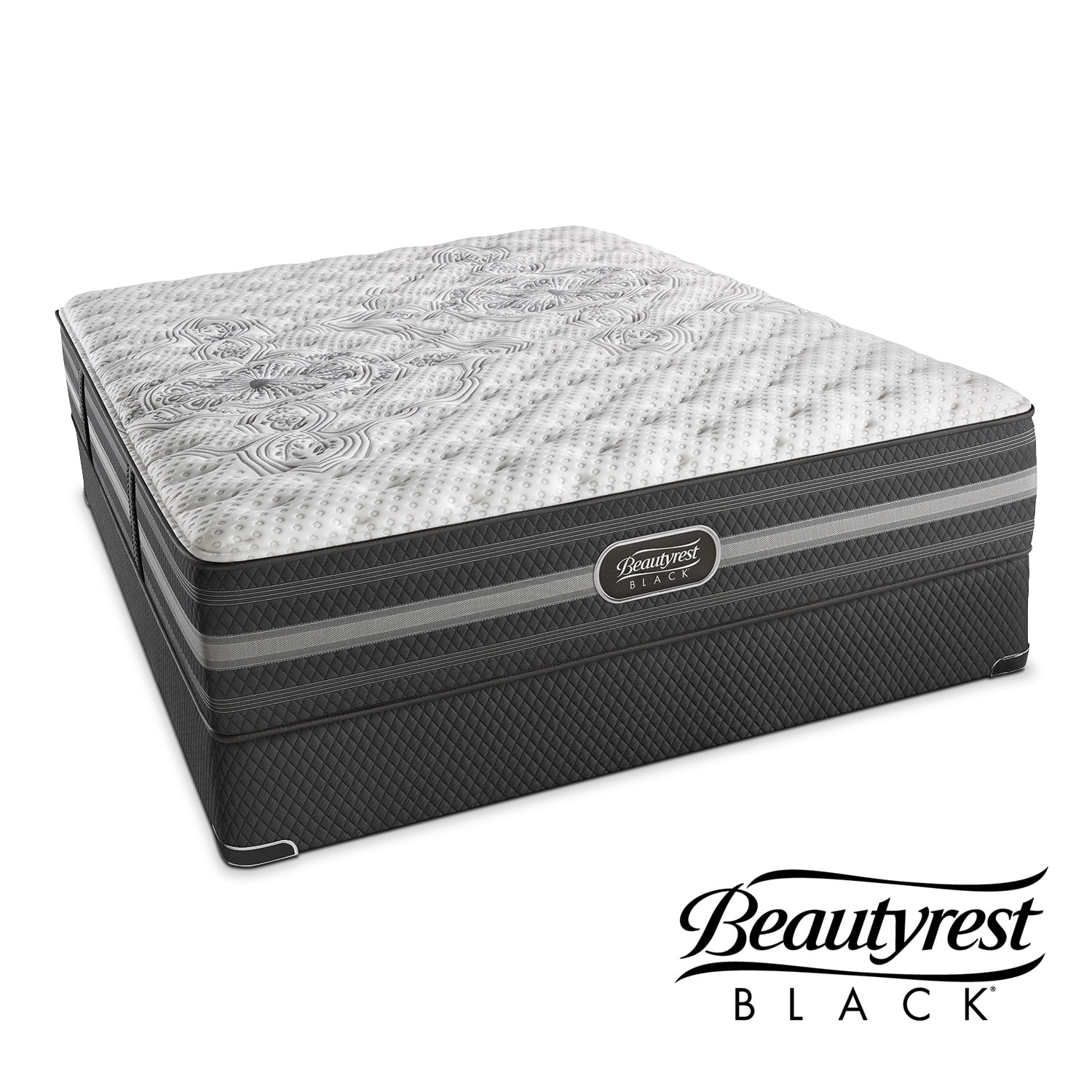 Mattresses and Bedding - Calista Extra-Firm Full Mattress and Low-Profile Foundation Set