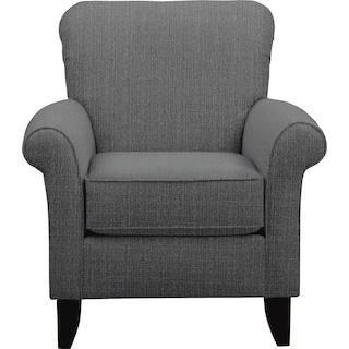 Tracy Accent Chair w/ Depalma Charcoal Fabric