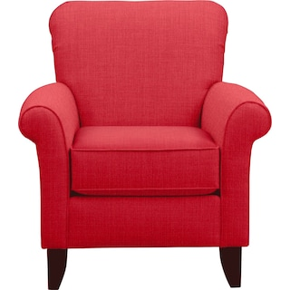 Tracy Chair w/ Depalma Cherry Fabric