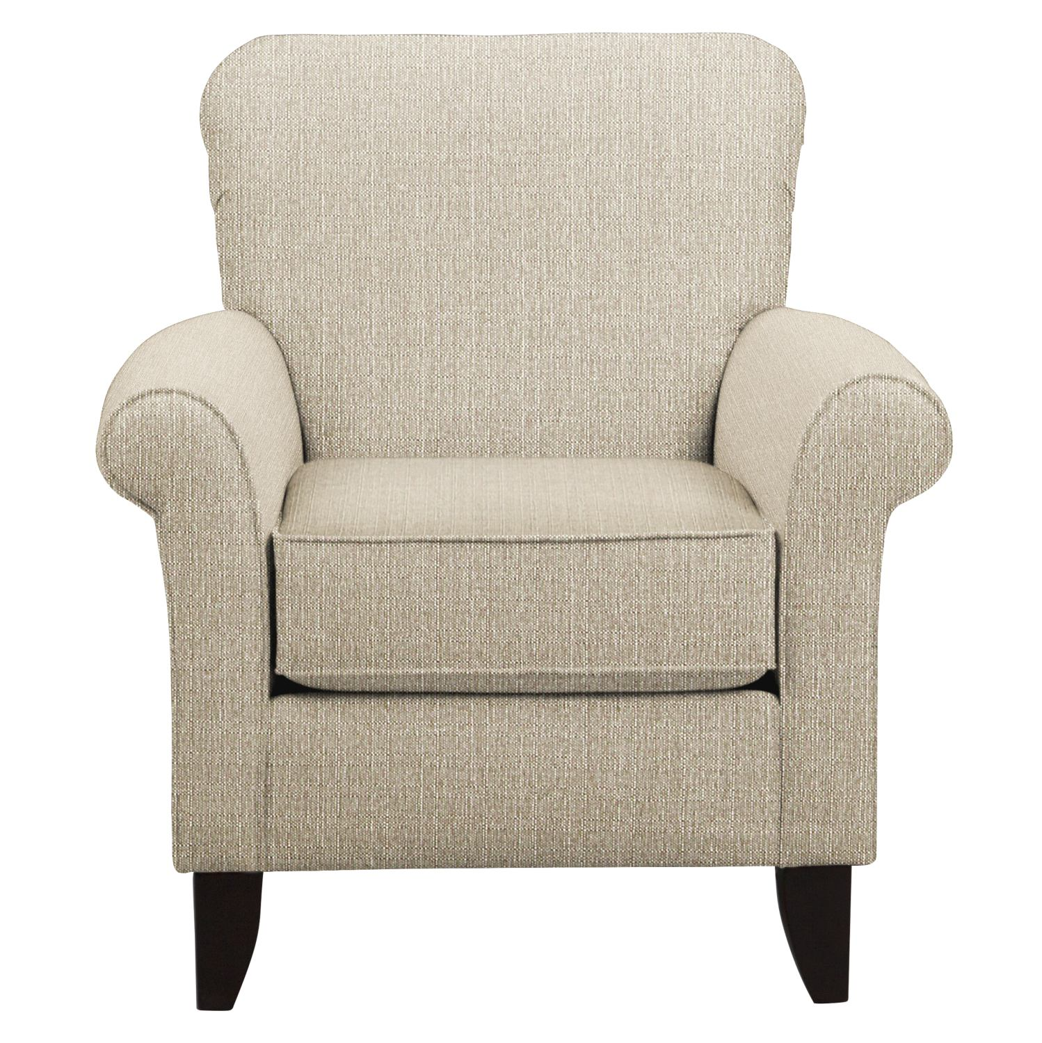 Living Room Furniture - Tracy Chair w/ Depalma Taupe Fabric