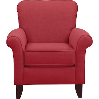 Tracy Chair w/ Oakley III Tomato Fabric