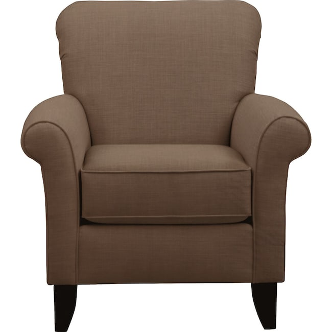 Living Room Furniture - Tracy Chair w/ Oakley III Java Fabric