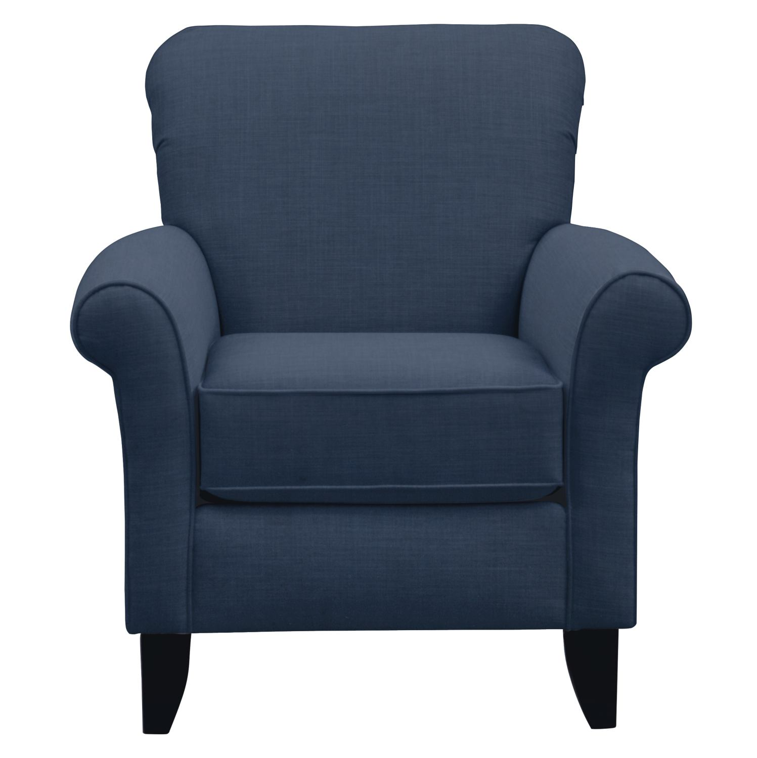 Living Room Furniture - Tracy Chair w/ Oakley III Ink Fabric