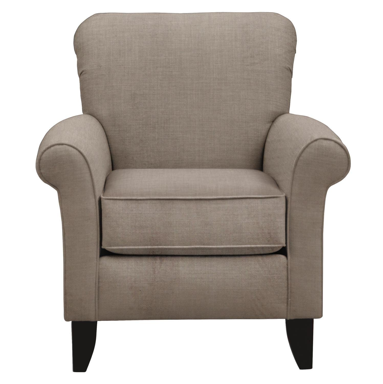 Living Room Furniture - Tracy Chair w/ Oakley III Granite Fabric