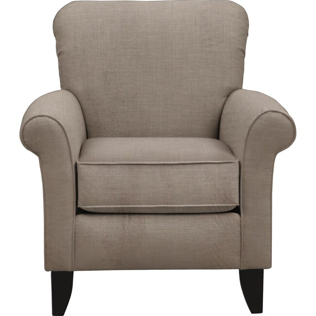 Living Room Furniture - Tracy Chair w/ Oakley III Granite Fabric