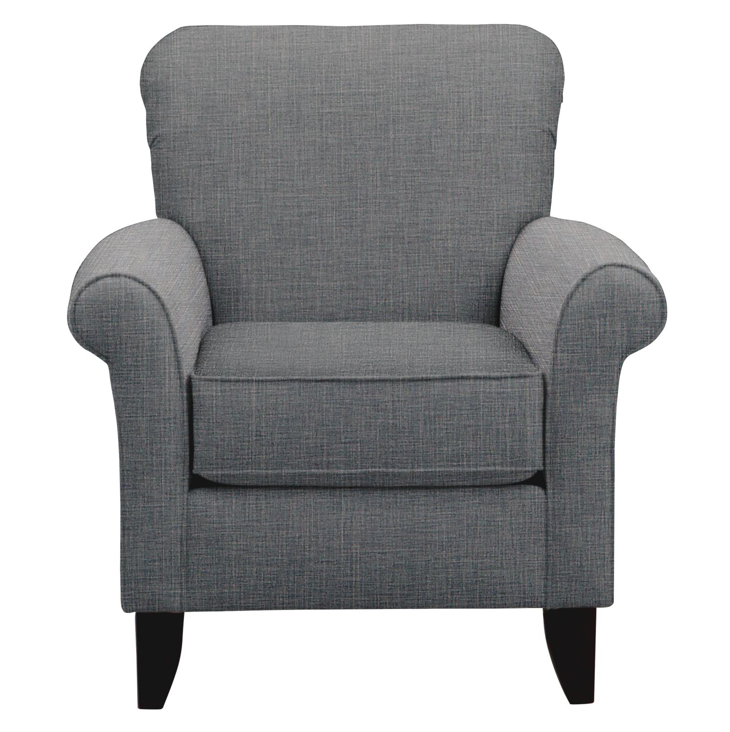 Living Room Furniture - Tracy Chair w/ Milford II Charcoal Fabric