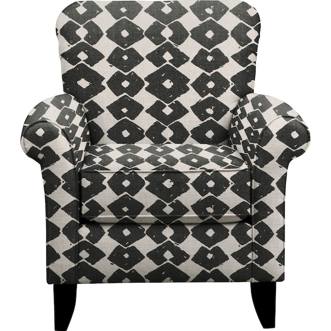 Living Room Furniture - Tracy Chair w/ Beechwood Granite Fabric