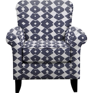 Tracy Chair w/ Beechwood Indigo Fabric