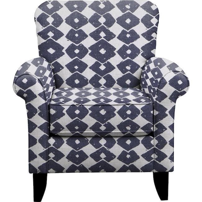 Living Room Furniture - Tracy Chair w/ Beechwood Indigo Fabric