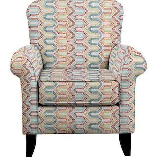 Tracy Chair w/ Frilster Bohemian Fabric