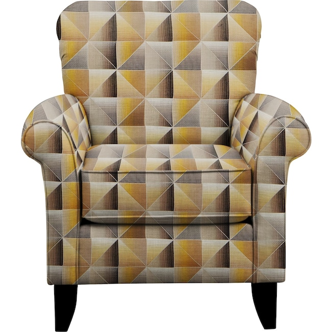 Living Room Furniture - Tracy Chair w/ Immortal Lemoncello Fabric