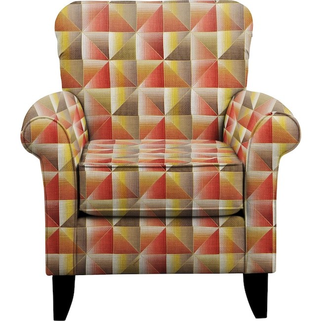 Living Room Furniture - Tracy Chair w/ Immortal Sienna Fabric