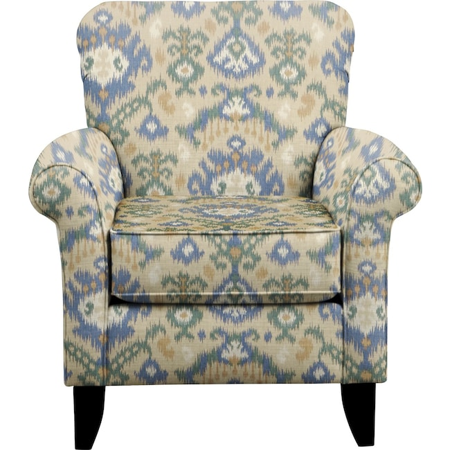 Living Room Furniture - Tracy Chair w/ Blurred Lines Big Sky Fabric