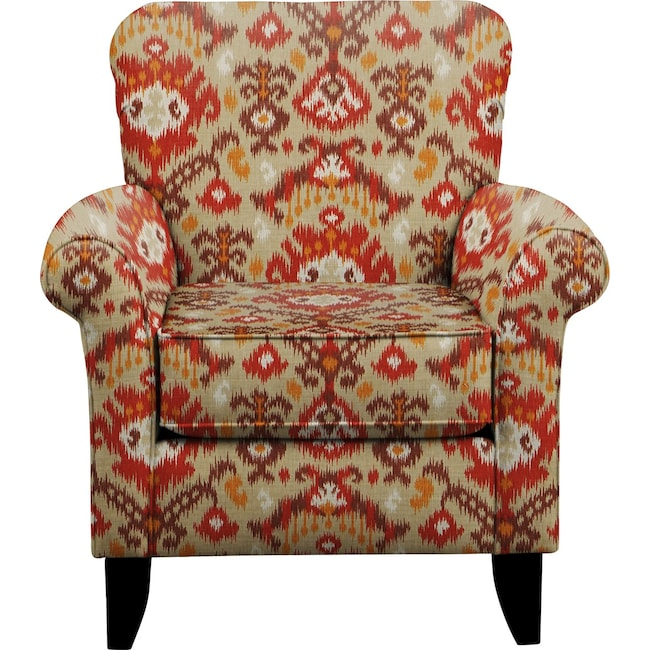 Living Room Furniture - Tracy Chair w/ Blurred Lines Sante Fe Fabric