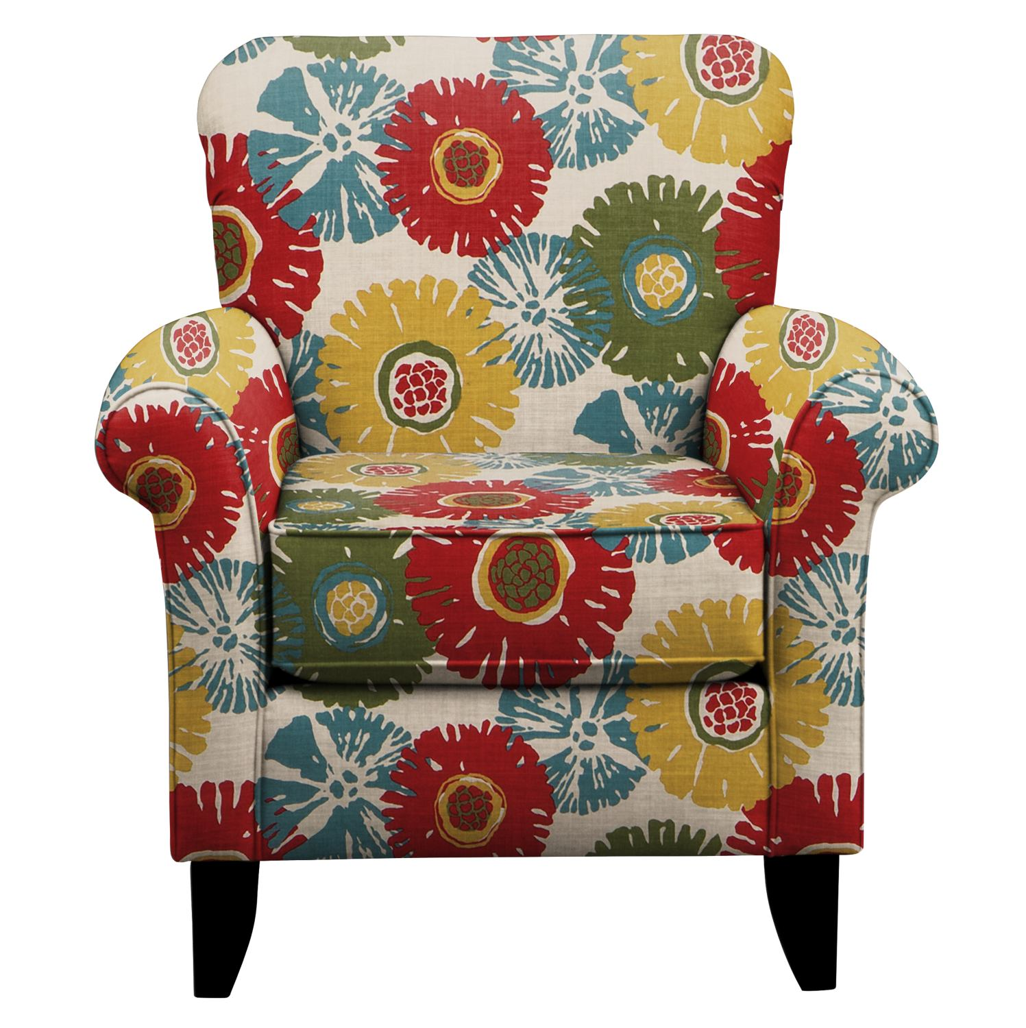Living Room Furniture - Tracy Chair w/ Star Burst Tropic Fabric