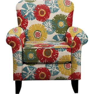 Tracy Chair w/ Star Burst Tropic Fabric