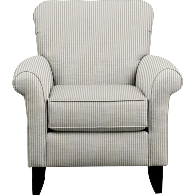 Living Room Furniture - Tracy Chair w/ Polo Storm Fabric