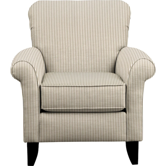 Living Room Furniture - Tracy Chair w/ Polo Linen Fabric