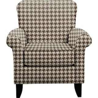 Tracy Chair w/ Watson Chocolate Fabric