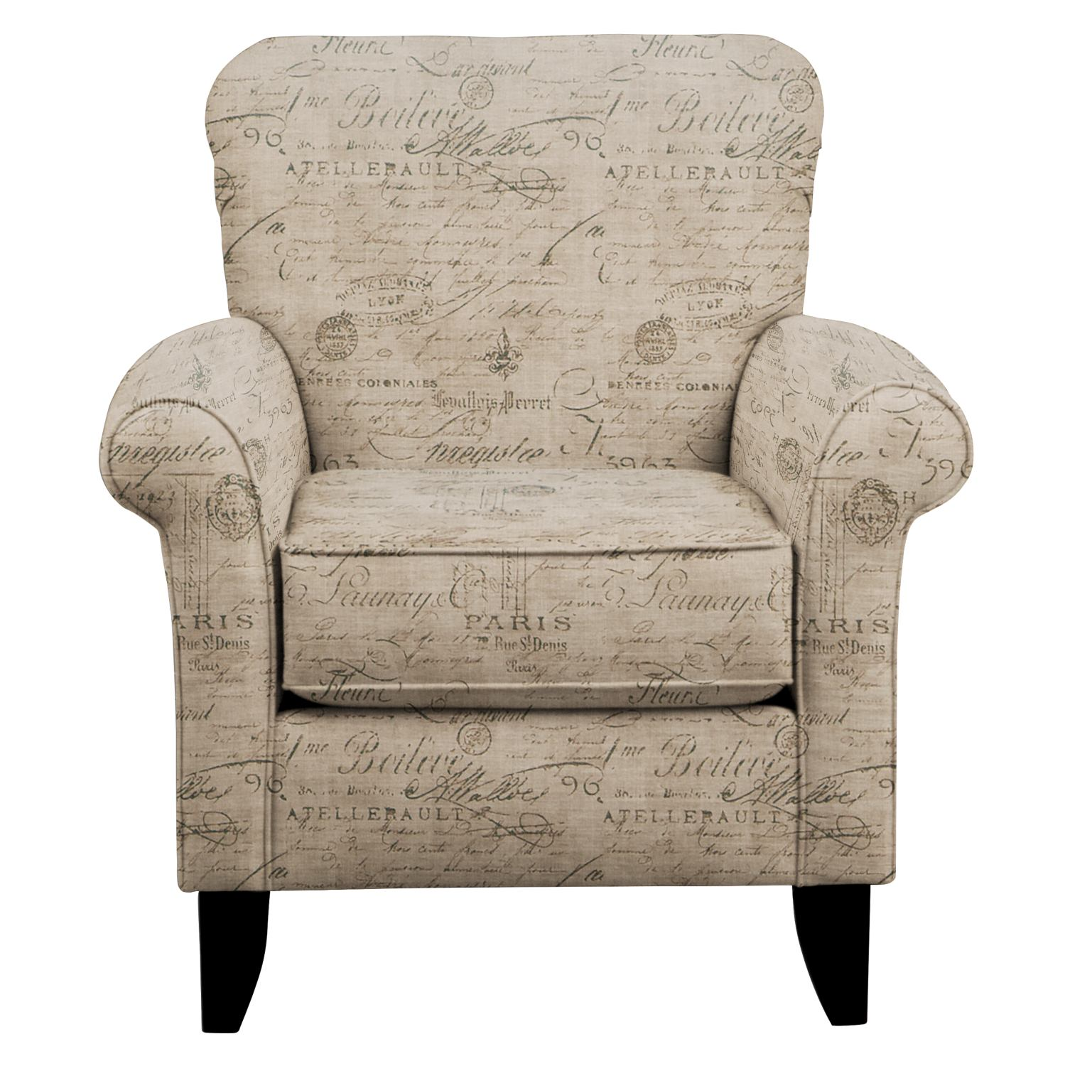 Tracy Chair w/ Seine Gray Fabric | Value City Furniture and Mattresses
