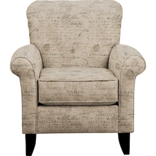 Tracy Chair w/ Seine Gray Fabric