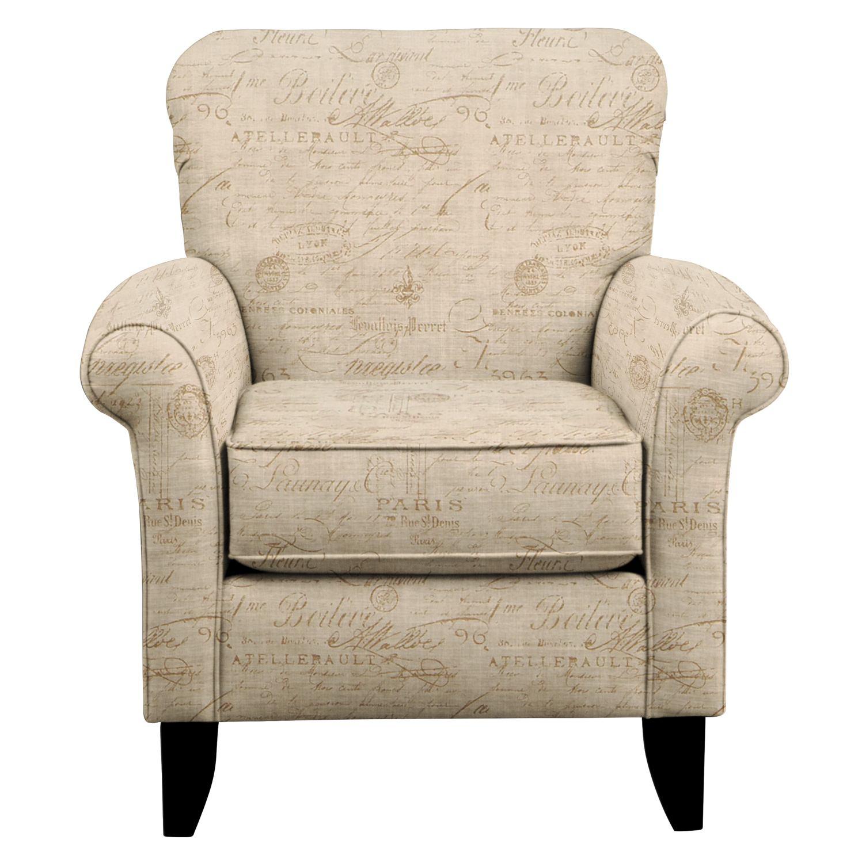 Living Room Furniture - Tracy Chair w/ Seine Mocha Fabric