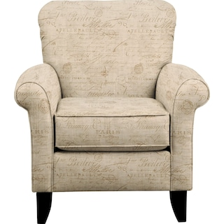 Tracy Chair w/ Seine Mocha Fabric