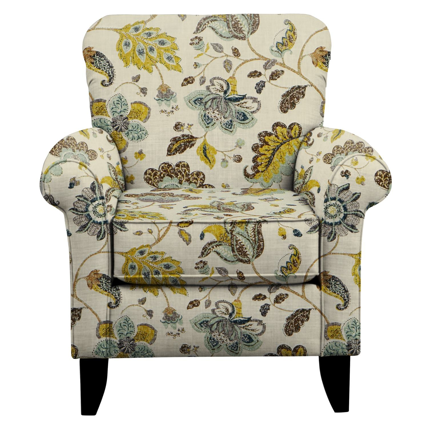 Living Room Furniture - Tracy Chair w/ Spring Mix Aloe Fabric