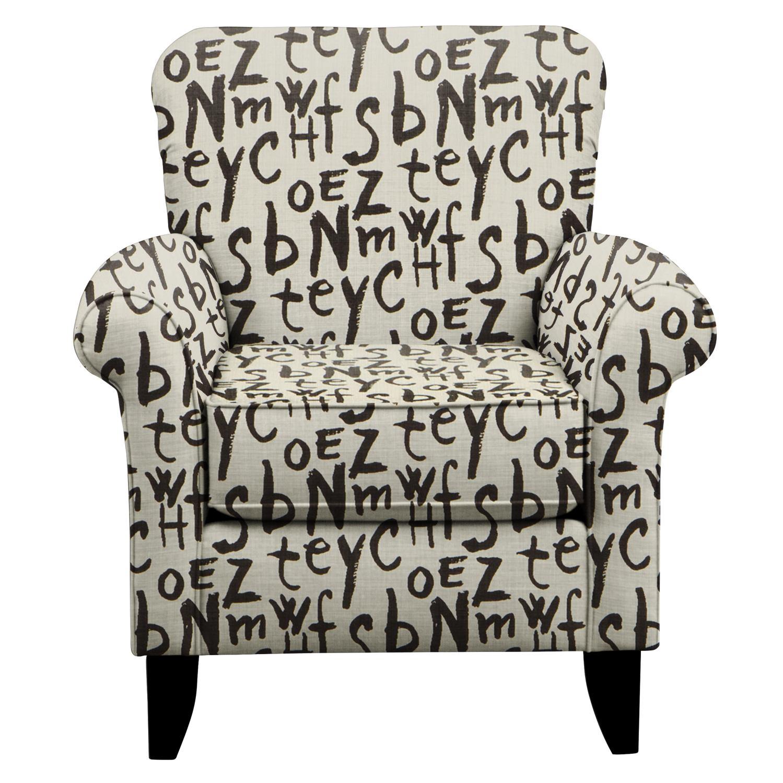 Living Room Furniture - Tracy Chair w/ American Grafitti Raven Fabric